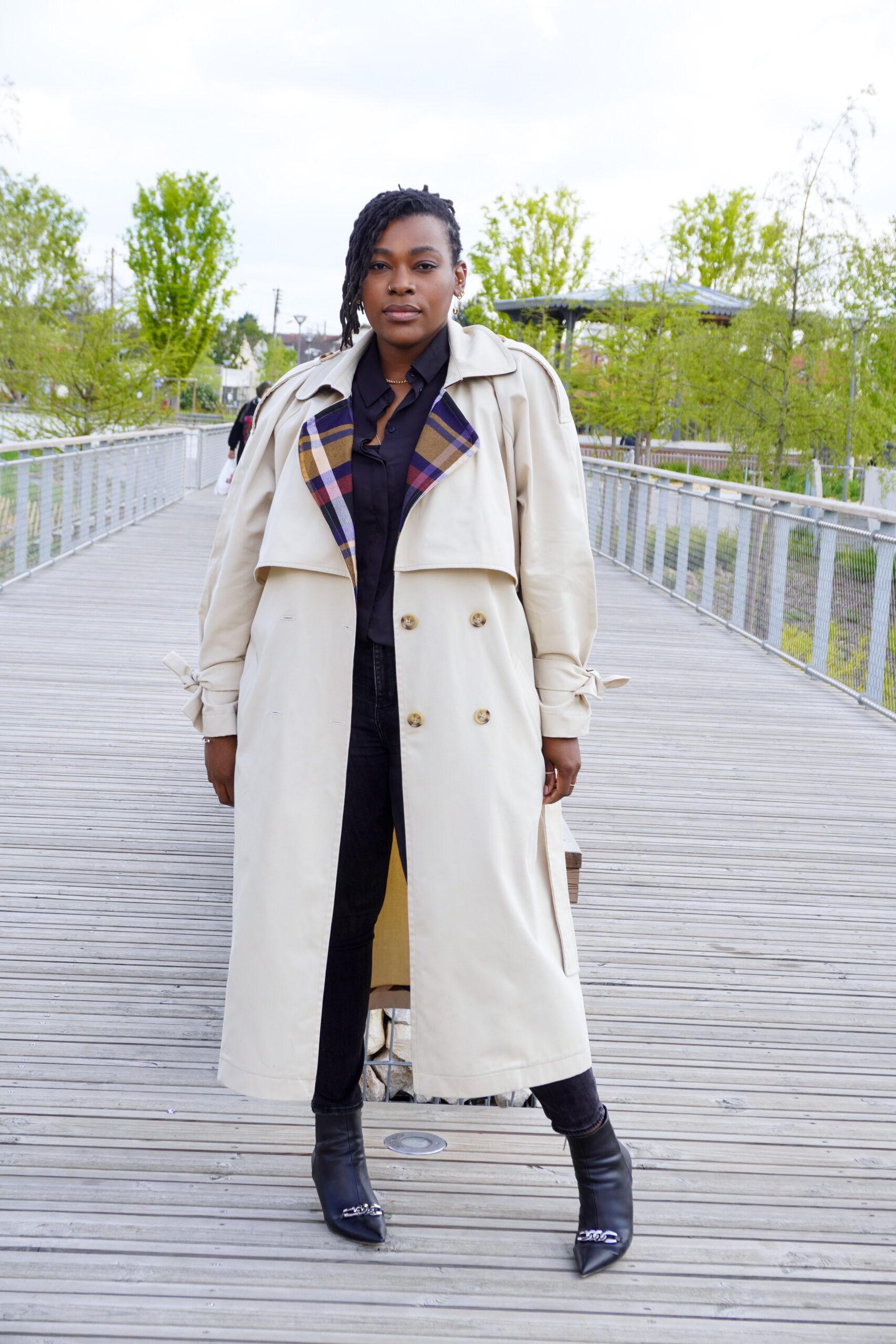 Trench coat oversize